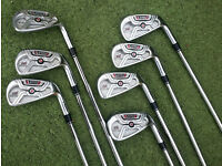 Adams XTD Tour Irons 4 PW reg KBS Regular Shaft Lamkin Midsize Grips 1/2 inch longer. Ernie Els