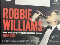 Robbie Williams tickets x2 Murryfeild pitch standing