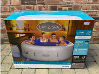 Lay‑Z‑Spa Paris - 2021 Airjet Model With LED Lights - 6 Person Hot Tub