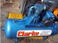 Clarke air compressor 150 litres