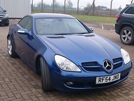Blue 2005 Mercedes SLK 350 rare manual SLK 3.5 97k miles, cream leather . Please read listing