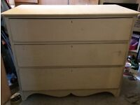 Painted oak chest of draws