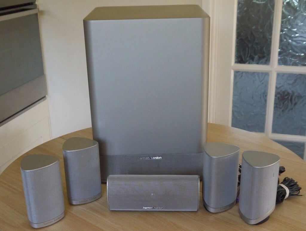 harman kardon hkts 7 5 1 cinema surround speaker system. Black Bedroom Furniture Sets. Home Design Ideas