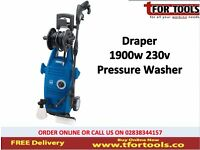 Draper 83407 1900W 230V PRESSURE WASHER WITH TOTAL STOP FEATURE