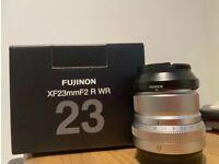 New fujifilm 23mm f2 silver lens