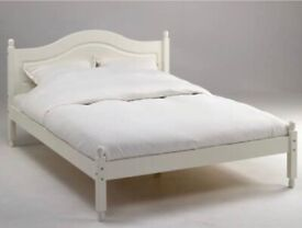 4ft6 Double Bed Frame White