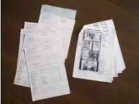 chaplin ' ( robert downey jr ) story boards / call sheets