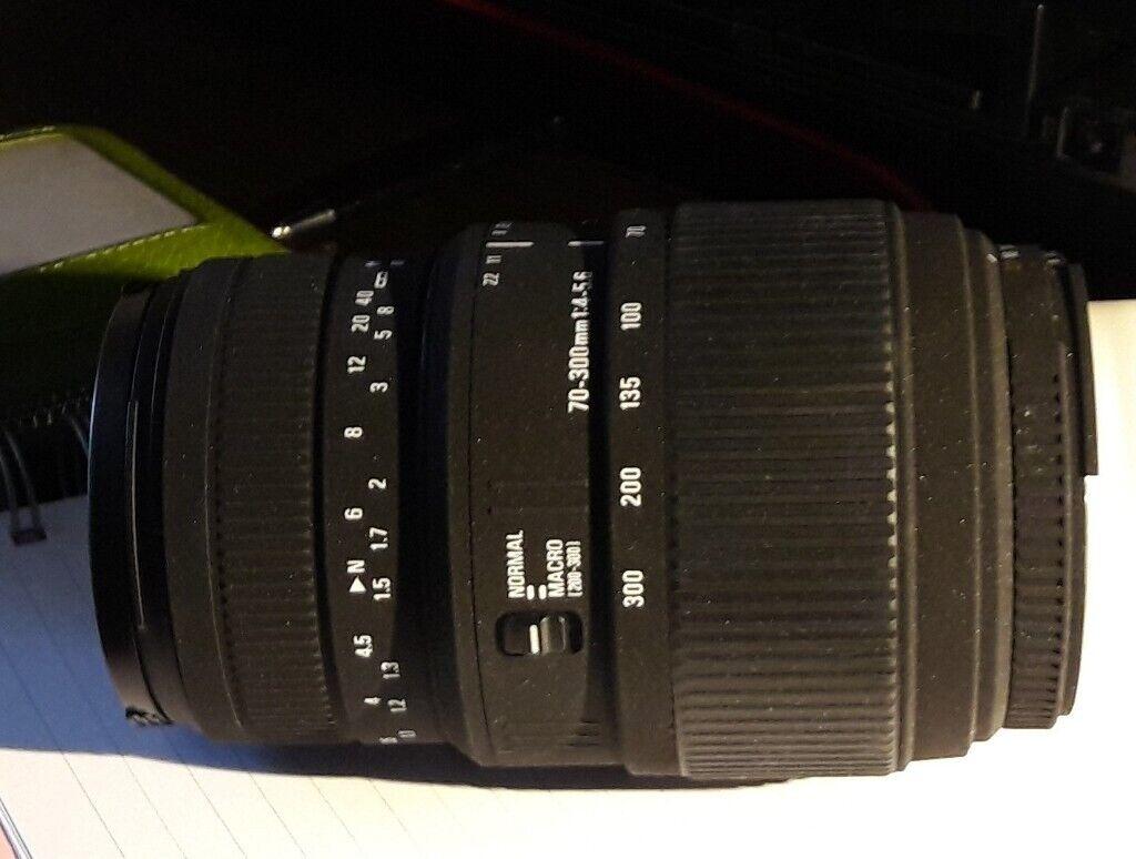Sigma For Nikon 70 300mm Lens F 4 56 DG Macro NOW 50