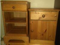 Bedside Cabinets Pine