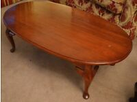 "Coffee table Mahogany/cherry colour solid wood American Drew "" Cherry Grove"""