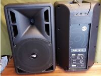 pair of RCF 310 passive pa speakers excellent condition