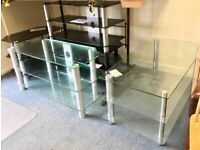 Glass Shelved TV Stand / Unit