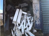 Free polystyrene and old shed