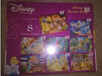 Brand New in Box - Compendium of 8 Disney Princess Jigsaws
