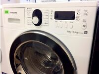 SAMSUNG - White & Chrome, 7KG/5KG , Digital WASHER DRYER + 3 Months Guarantee + FREE LOCAL DELIVERY