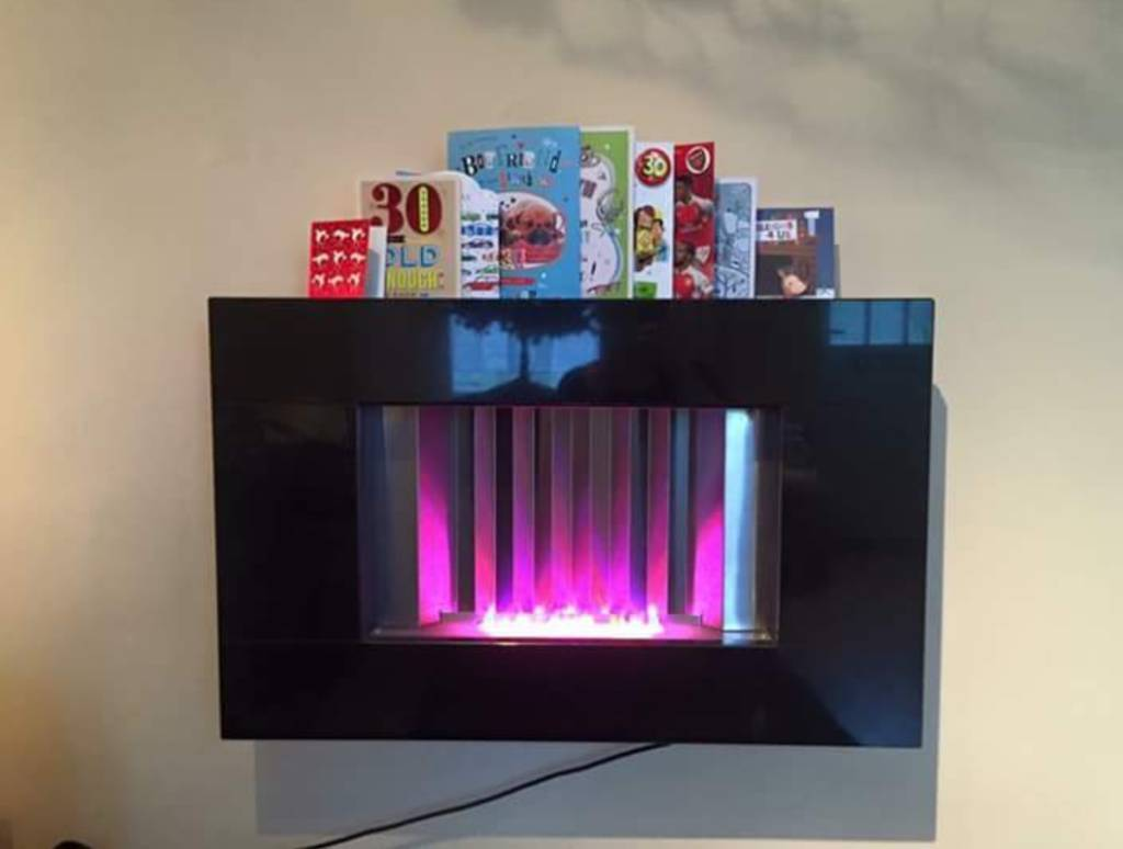 Eletric LED fireplace and surround with remote
