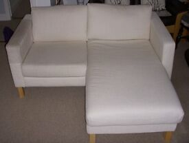IKEA Karlstadt 2 seat Chaise Lounge/Sofa in excellent condition