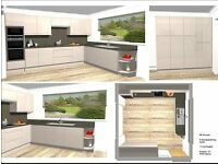 New kitchen Units Luca Gloss Cashmere New Price £2000.00