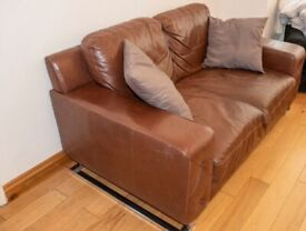 DFS - 2 Seater Leather Sofa