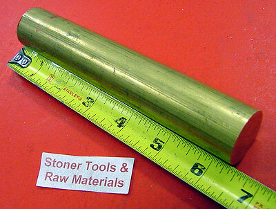 1-18 360 Brass Solid Round Rod 6-38 Long New Lathe Bar Stock H02 1.125
