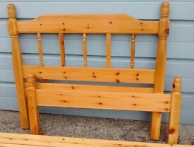 Solid Pine Single Bed Frame
