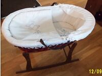 Moses Padded Carrying Basket with Rocker Stand