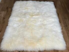 Brand new medium stunning sheepskin rug by Bowring. Fully lined/backed and edged.