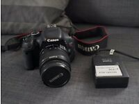 Canon 600d DSLR with 18-55mm f/3.5-5.6 IS kit lens + 16GB sdhc memory card
