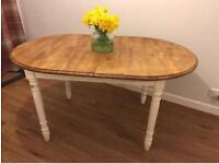 Shabby chic extending table