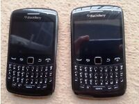 Two Blackberry Curve 9360