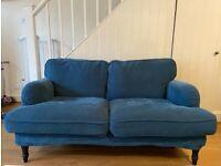 IKEA Stocksund 2-seater sofa, Tallmyra blue/black/wood, PICK UP ONLY
