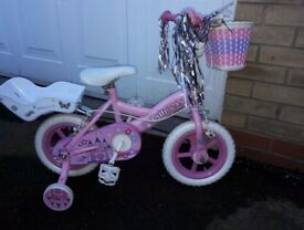 Girls 12 inch princess bike for sale