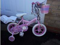 Girls 12 inch princess bike for sale