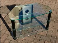 Glass TV Stand that has been used for TVs up to a 46 inch