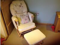 Nursing/rocking chair with footstool - Serenity glider