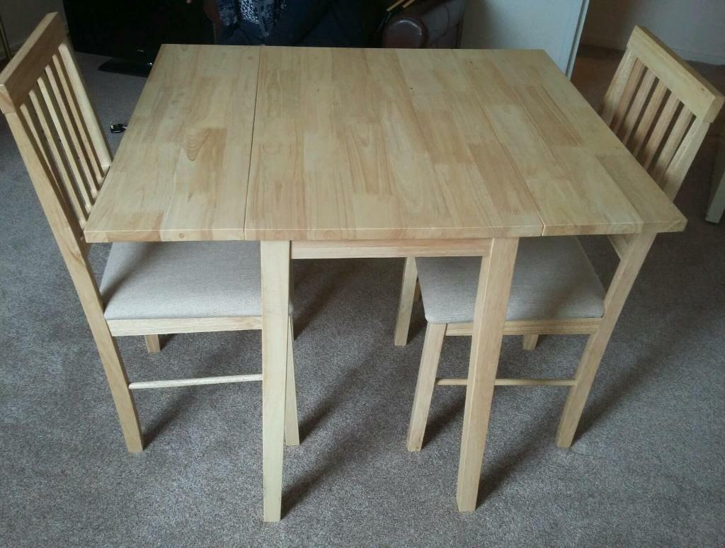 Kendall Drop Leaf Extendable Dining Table And 2 Chairs Never Used