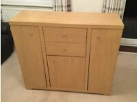 Next media / dvd storage sideboard - oak effect