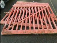 VERY HEAVY DUTY GALVINISED EX POST OFFICE GATES VERY GOOD CONDITION