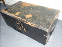 Tin Trunk, Toy Box, Log Box, Coffee Table