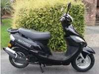 FAST! Fully Deristricted! MADNESS 50cc Scooter LEARNER LEGAL Moped LONG MOT Electric Start ALARM VGC