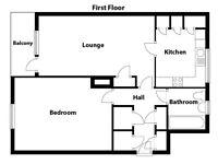 1 Bedroom flat - Northfield Drive - Unfurnished