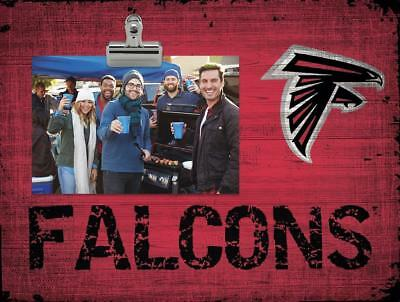 Atlanta Falcons Picture Frame - Atlanta Falcons Clip Picture Frame [NEW] NFL Photo Plaque Sign Wood