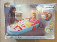 Child's Ready Bed and Sleeping Bag Ideal for Grandparents Stays or Camping