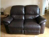 Authentic La-z-boy 2 seater leather sofa in excellent condition