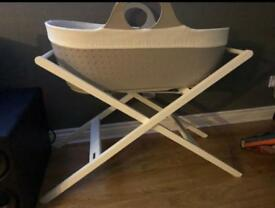 John Lewis white moses basket stand