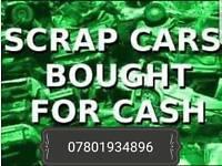 Scrap cars wanted,