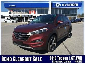 2016 Hyundai Tucson 1.6T AWD Limited - DEMO MODEL - SAVE BIG FRO