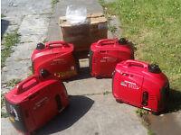 Honda generators job lot 3 x EU10i , 1 x EX7