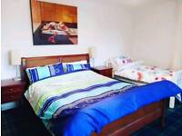 Lrg bedroom with 1 king size and 1 single bed ideal for couple. All bills and wifi inc.