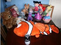 Job Lot no.3 - 14 x Children's Soft Toys inc. Walt Disney's Finding Nemo, Bambi and Thumper